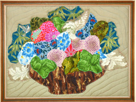 Hawaiian Bouquet: Quilted Art Wall Hanging - $425.00