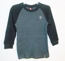 Southpole Boys Long Sleeve Thermal Shirt Black Gray Size Medium 5 NWT - $17.98