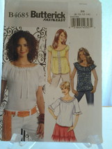 Butterick B4685 Fast & Easy Misses Tops  in 4 Boho Styles, (8-10, 13-14)... - $7.00