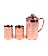 COPPER JUG FOR AYURVEDA HEALTH BENEFIT PITCHER HEALING YOGA POWER - $33.46