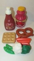 Little Tikes play food lot waffle syrup fruit punch pretzel veggies pea pods + - $13.36