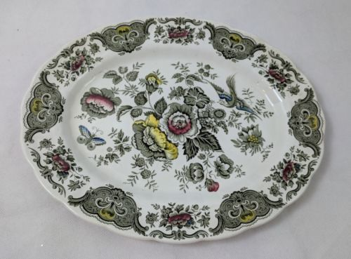 Windsor By Ridgway Staffordshire England China Flowers & Birds 29 Pieces Chipped