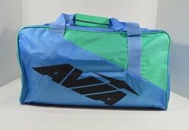 Vintage Avia New Spell Out Shoulder Duffel Bag Gym Bag Blue Purple Polye... - $19.75