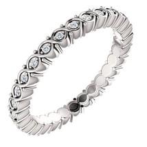 0.35 Carat Genuine G VS2 Diamond Eternity Ring in 14k Gold