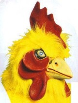 A CHICKEN MASK WITH YELLOW FUR - $39.00