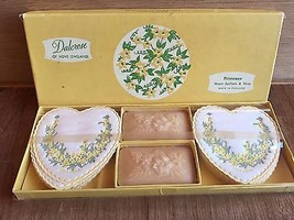 Vintage Dalcrose of Hove PRIMROSE 16 sachets & 2 cakes of soap set, Engl... - $14.99