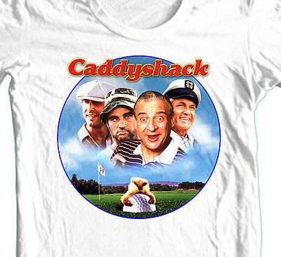 Caddyshack T-shirt retro 80's golf movie 100% cotton graphic white tee