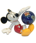 Disney Mickey Mouse with Globe Jeweled Figurine by Arribas New LE 1000 - £1,466.96 GBP