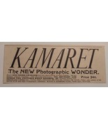 1891 Kamaret The New Photographic Wonder - E. & H. T. Anthony & Co Adver... - $24.00