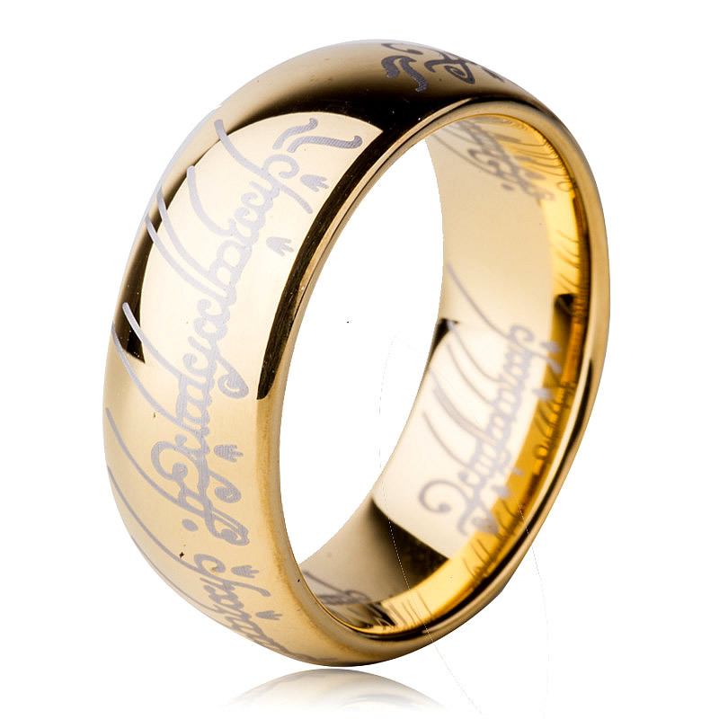 lord of the rings wedding band 8mm tungsten lord of the ring men tungsten ring wedding 5596