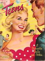 VINTAGE UNCUT 1959 TEENS PAPER DOLLS~#1 REPRODU... - $19.99