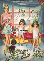 VINTAGE UNCUT 1940's HERE COMES THE BRIDE PAPER... - $18.98