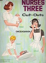 VINTAGE UNCUT 1964 NURSES THREE PAPER DOLLS~#1 ... - $18.50