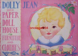 VINTAGE UNCUT 1932 DOLLY~JEAN HER PAPER DOLL HOUSE PAPER DOLLS~#1 REPROD... - $19.99