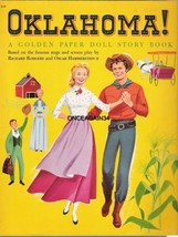 VINTAGE UNCUT 1956 OKLAHOMA! PAPER DOLLS~RODGERS & HAMMERSTEIN~#1 REPROD... - $19.99