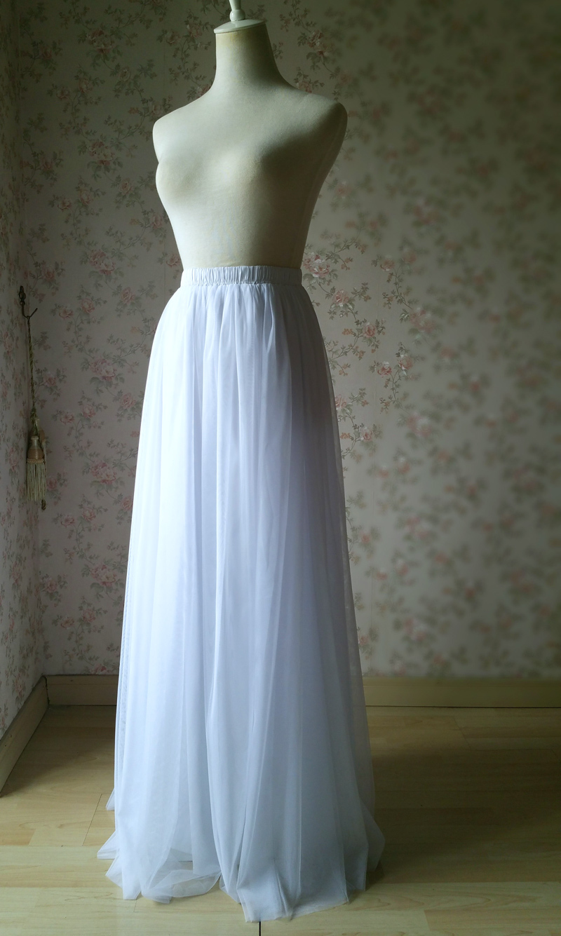White wedding tulle skirt 1 800