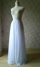 WHITE FULL TULLE Skirt White Wedding Bridal Tulle Maxi Full Skirts,petite-plus