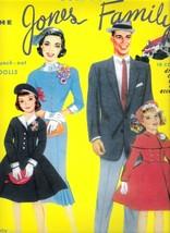 VINTAGE UNCUT 1961 JONES FAMILY PAPER DOLLS~#1 REPRODUCTION~NOSTALGIC! - $19.98