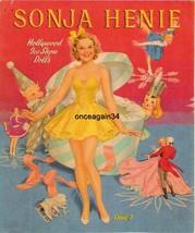 VINTAGE UNCUT 1941 SONJA HENIE PAPER DOLLS~BEAU... - $19.98