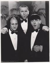3 Stooges Tuxedos  Moe Larry Curly 65 Vintage 8X10 BW TV Memorabilia Photo - $6.99