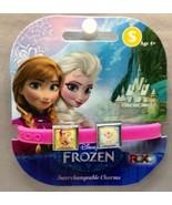 Disney Frozen Interchangeable 2 Charm ROXO Silicone Bracelet ~Anna & Elsa!! - $3.04