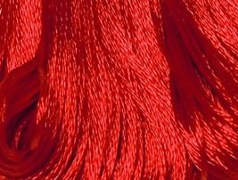 S666 Persian Red   DMC Embroidery Satin Floss - $1.50
