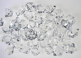 165PCS  New Translucent Clear Acrylic Ice Rocks For Vase Fillers Table Scatters - $10.67