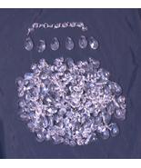 #1626 Lot of 245 Vintage Chandelier Crystal Prisms Glass - 45 Tear Drop ... - $120.00