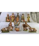 "#1632 Fontanini Starter set - 11 piece nativity - 4"" - Italy - $90.00"