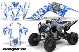 Yamaha Raptor 700 06-12 Graphics Kit Creatorx Decals Samurai Blue White - $157.09