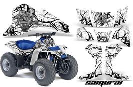 Suzuki Lt 80 Ltz80 Creatorx Graphics Kit Decals Samurai Bw - $168.25