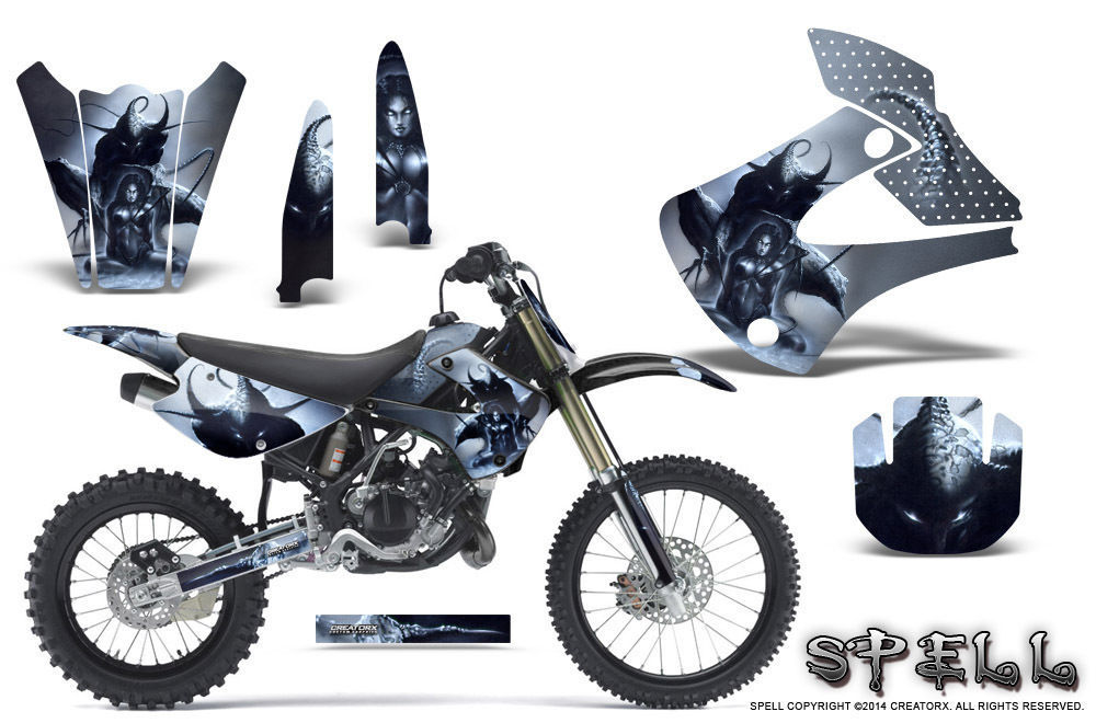 Primary image for Kawasaki KX85 KX100 2001-2013 Graphics Kit CREATORX Decals SPELL S