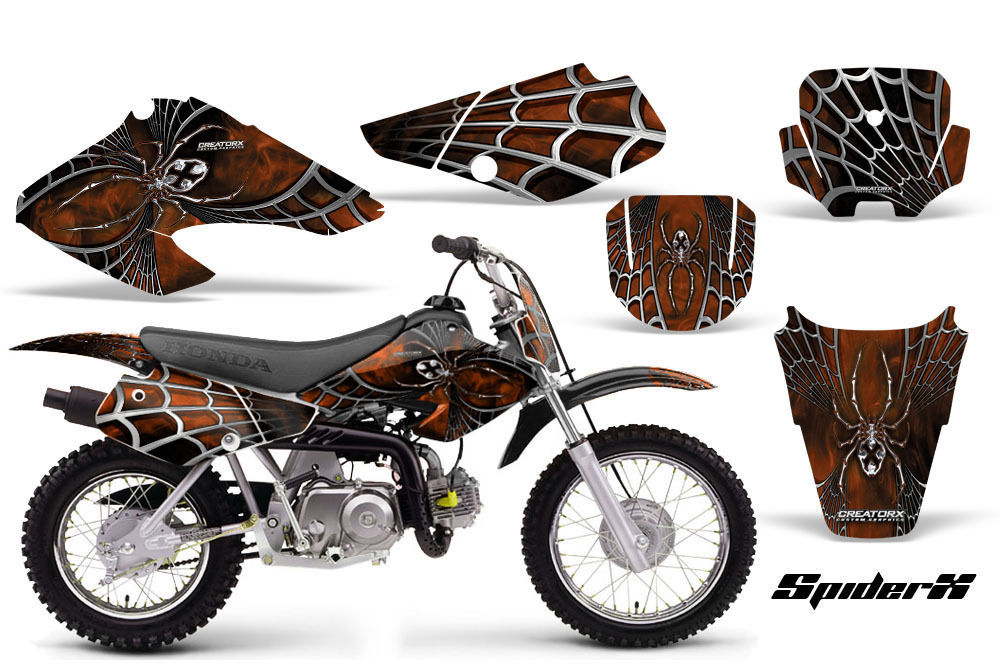 HONDA XR 70 2001-2003 GRAPHICS KIT CREATORX DECALS SPIDERX SXO - $99.00