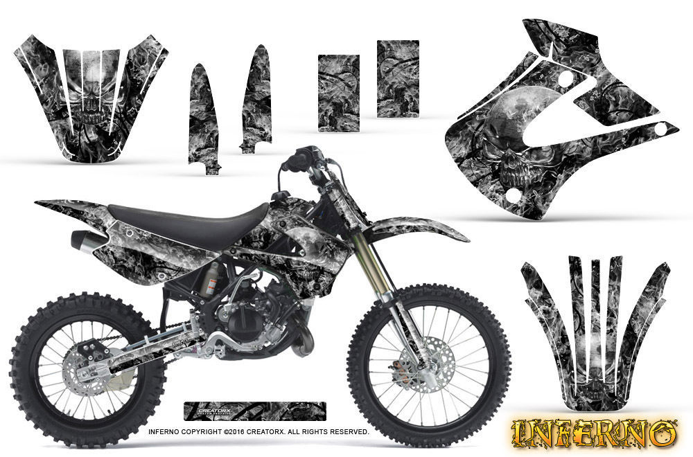Primary image for Kawasaki KX85 KX100 2001-2013 Graphics Kit CREATORX Decals INFERNO S