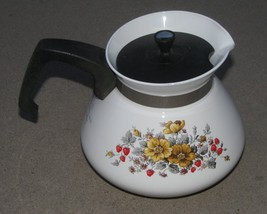 Vintage Corning Ware 6 Cup Teapot RARE Bantry Pattern Tea Pot - $48.00