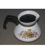 Vintage Corning Ware 6 Cup Teapot RARE Bantry Pattern Tea Pot - $48.00
