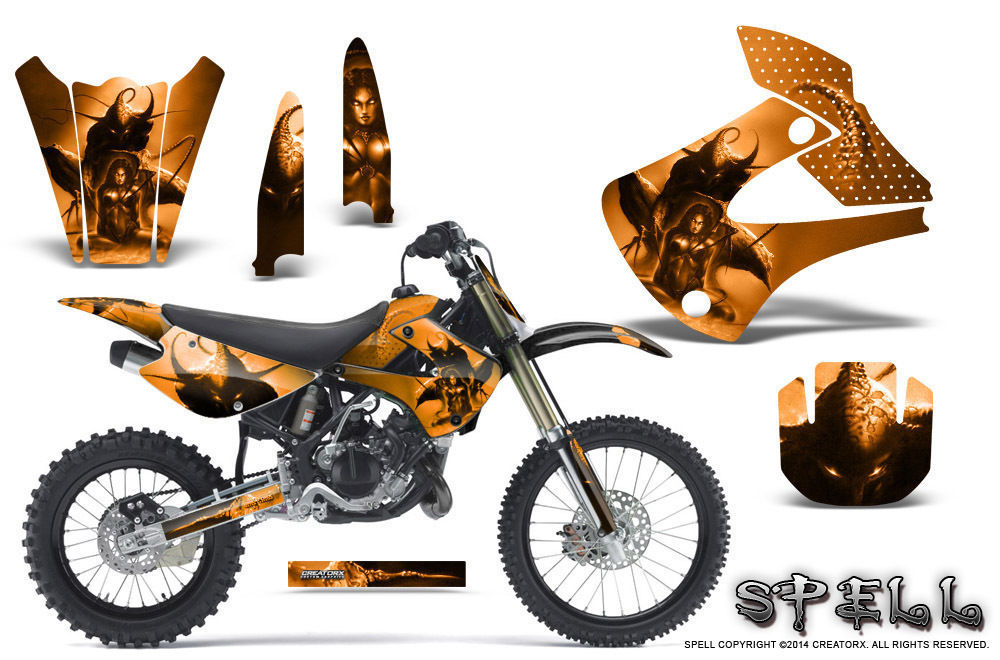 Primary image for Kawasaki KX85 KX100 2001-2013 Graphics Kit CREATORX Decals SPELL O