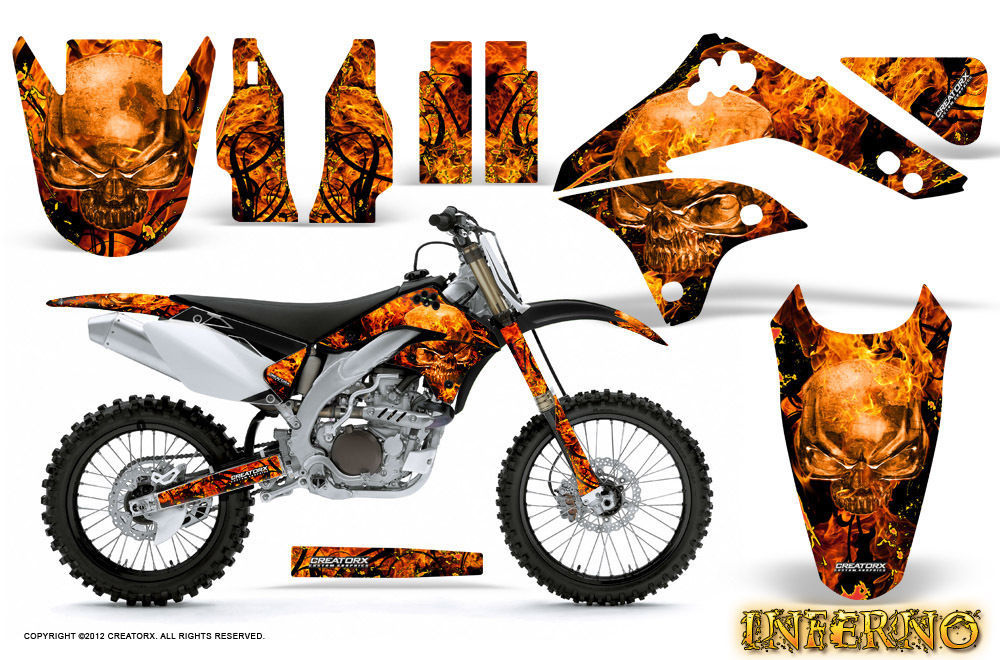 Primary image for KAWASAKI KXF450 KX450F 06-08 GRAPHICS KIT DECALS INFERNO INFB