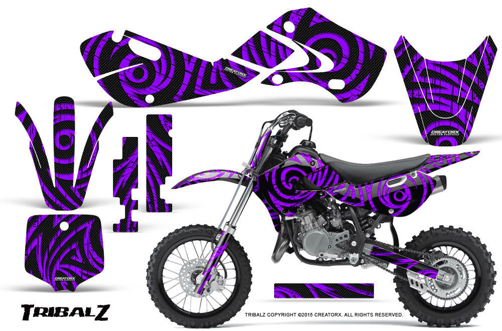 Primary image for KAWASAKI KLX110 02-09 KX65 00-12 GRAPHICS KIT CREATORX DECALS TRIBALZ PR