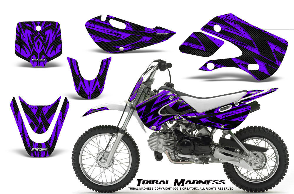 Primary image for KAWASAKI KLX110 02-09 KX65 00-12 GRAPHICS KIT CREATORX DECALS TMPR