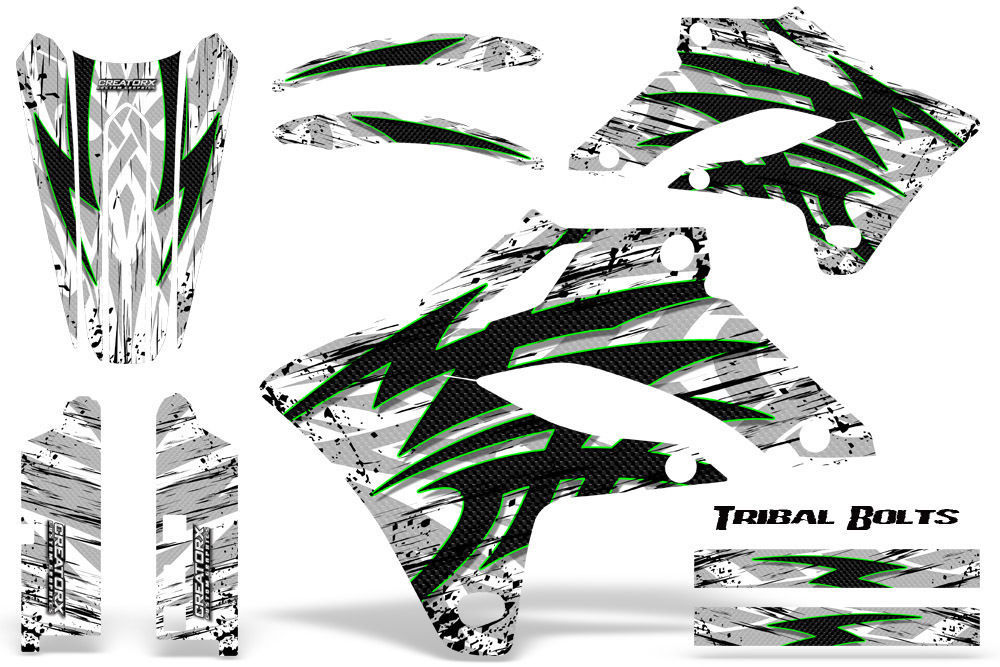 Primary image for KAWASAKI KLX 250 04-07 GRAPHICS KIT CREATORX DECALS TRIBAL BOLTS GW