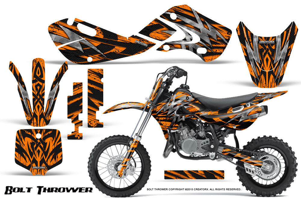 Primary image for KAWASAKI KLX110 02-09 KX65 00-12 GRAPHICS KIT CREATORX DECALS BTO