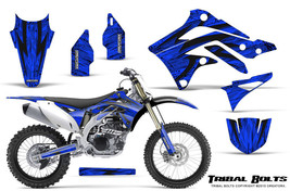 KAWASAKI KXF450 KX450F 12-15 CREATORX GRAPHICS KIT DECALS TRIBAL BOLTS BL - $178.15