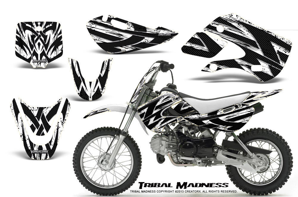 Primary image for KAWASAKI KLX110 02-09 KX65 00-12 GRAPHICS KIT CREATORX DECALS TMW