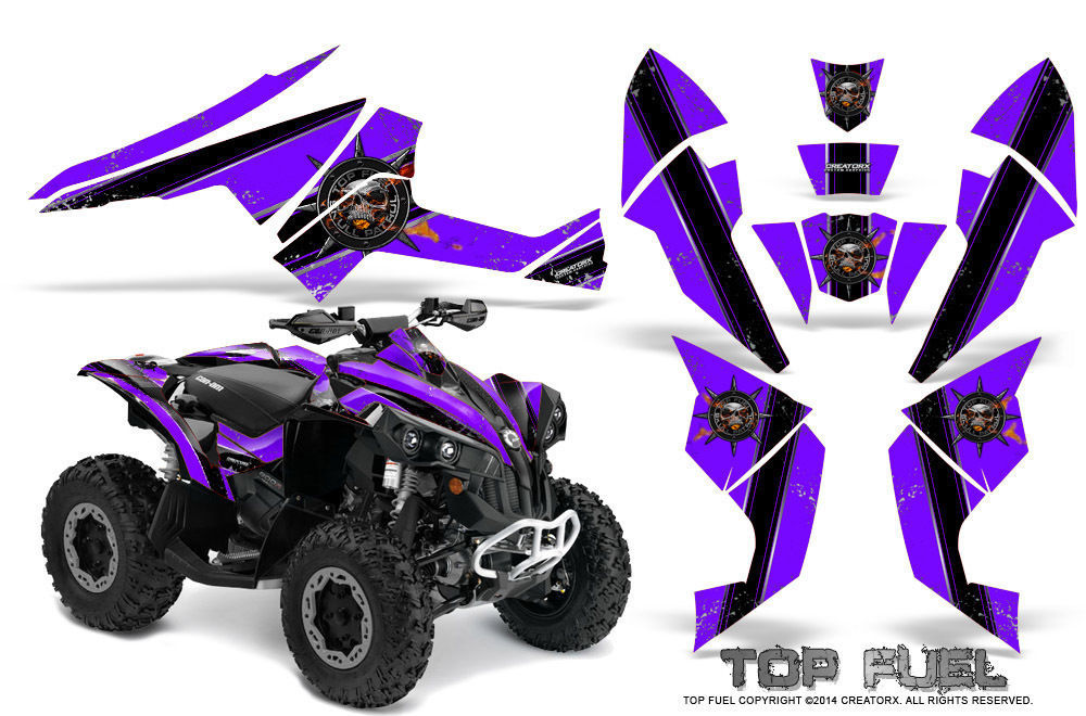 Can-Am Renegade Graphics Kit by CreatorX Decals Stickers TOP FUEL BPR - $178.15