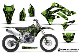 KAWASAKI KXF450 KX450F 12-15 CREATORX GRAPHICS KIT DECALS SKULLCIFIED G - $178.15