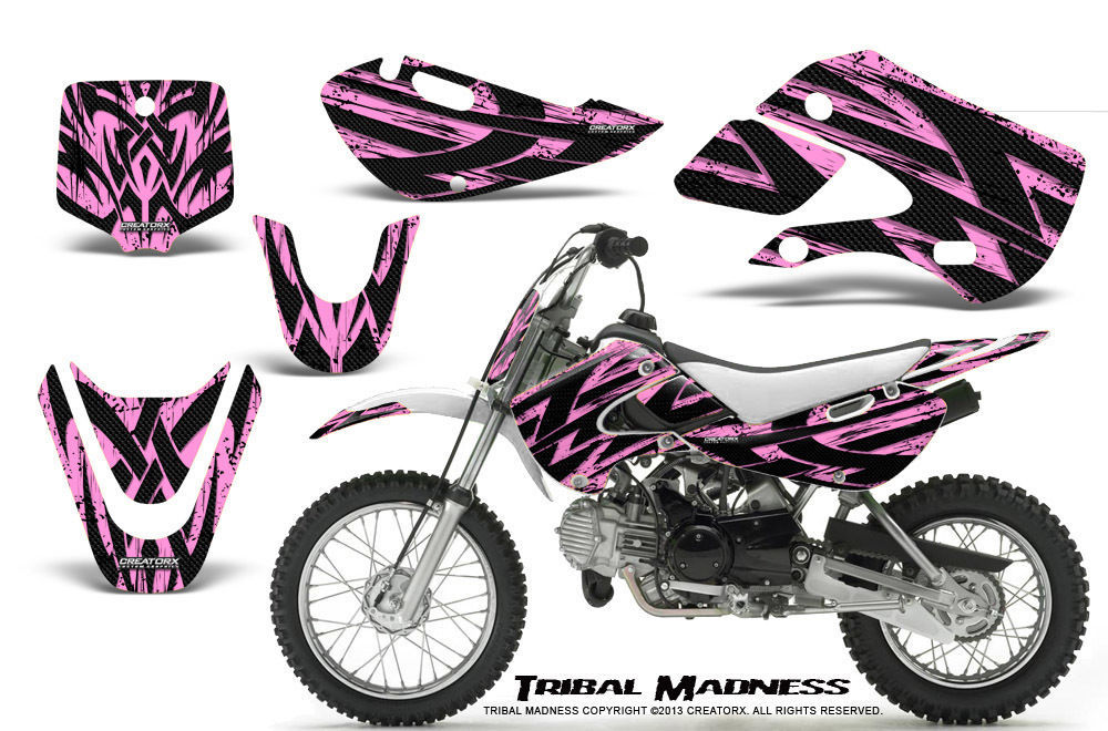 Primary image for KAWASAKI KLX110 02-09 KX65 00-12 GRAPHICS KIT CREATORX DECALS TMPL