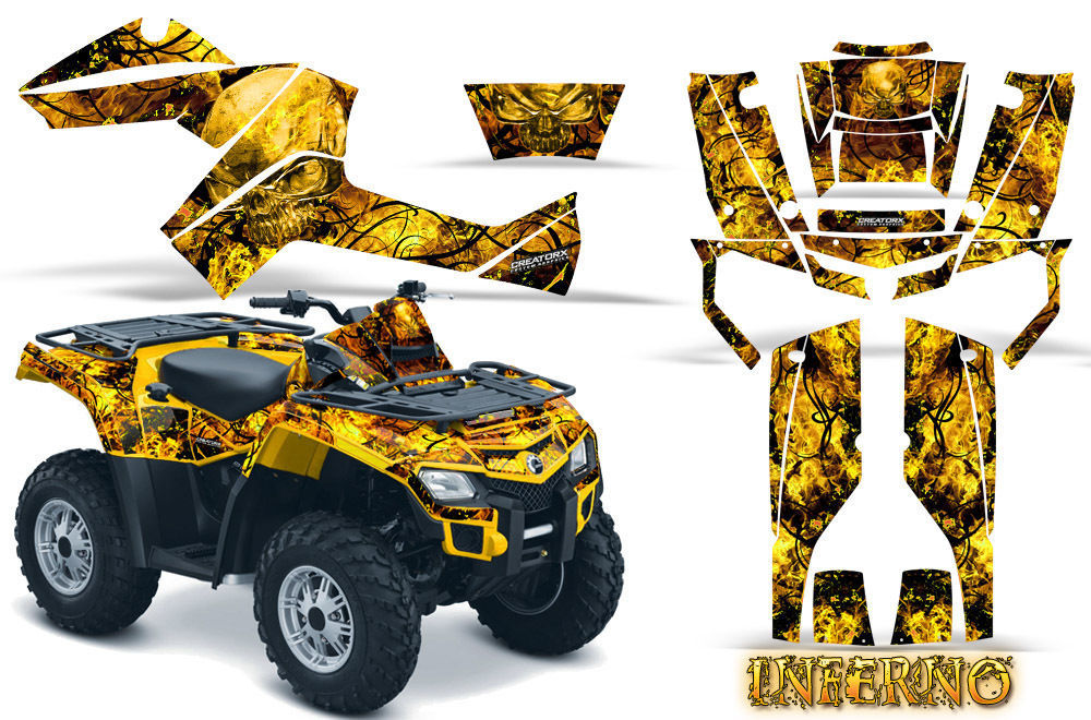 YAMAHA GRIZZLY 700 550 GRAPHICS KIT CREATORX DECALS STICKERS BTS
