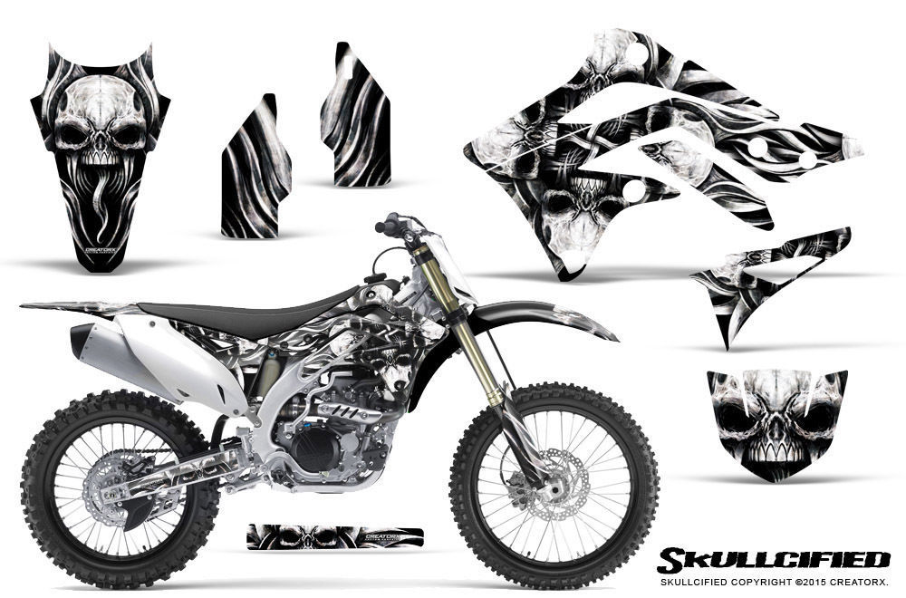 Primary image for KAWASAKI KXF450 KX450F 12-15 CREATORX GRAPHICS KIT DECALS SKULLCIFIED S