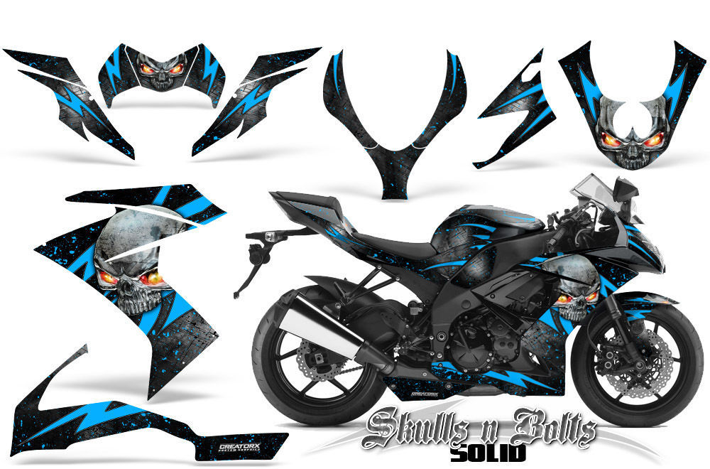 Primary image for KAWASAKI ZX10 NINJA 08-09 GRAPHICS KIT CREATORX DECALS STICKERS SNBSDBLIB